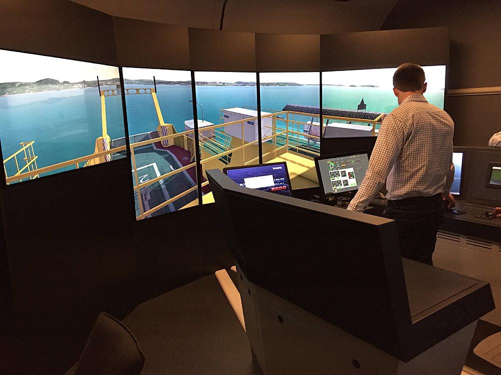 Simulator -Transportstyrelsen Vaxholm, Sweden